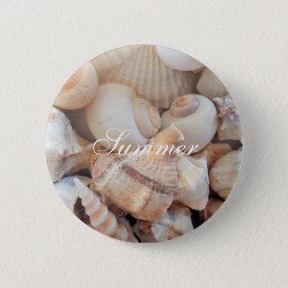 Bóton Redondo 5.08cm Escudos do mar, romântico tropical exótico da