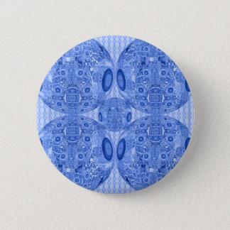 Bóton Redondo 5.08cm Esferas psicadélicos azuis