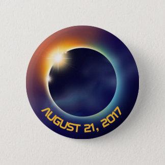 Bóton Redondo 5.08cm Espaço da astronomia   do eclipse solar  