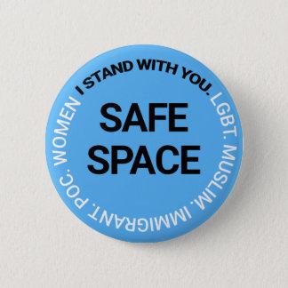 Bóton Redondo 5.08cm Espaço seguro para todos
