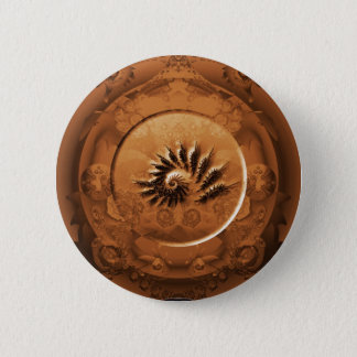 Bóton Redondo 5.08cm Espelho fóssil do fractal