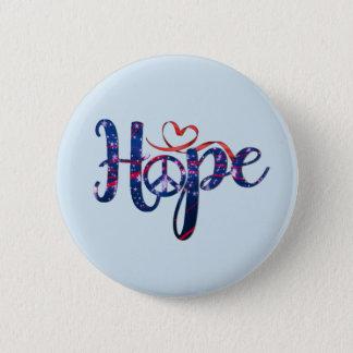 Bóton Redondo 5.08cm Esperança para botões da paz