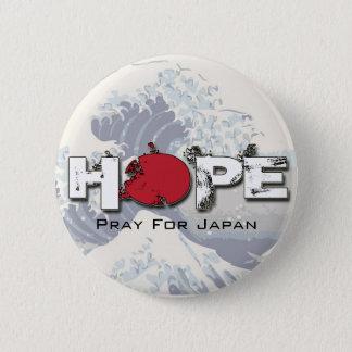 Bóton Redondo 5.08cm ESPERANÇA - Pray para os pinos de Japão