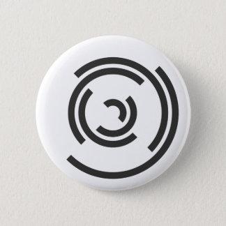 Bóton Redondo 5.08cm Espiral cinzenta