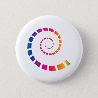 Bóton Redondo 5.08cm Espiral multicolorido