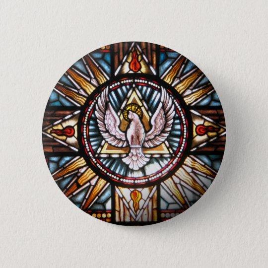 Bóton Redondo 5.08cm Espírito Santo vitral