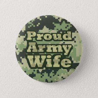 Bóton Redondo 5.08cm Esposa orgulhosa do exército