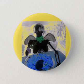 Bóton Redondo 5.08cm Esqueleto amarelo e preto, ossos, crachá do botão