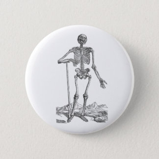 Bóton Redondo 5.08cm Esqueleto com pá