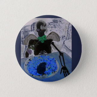 Bóton Redondo 5.08cm Esqueleto, crânio, ossos, crachá do botão do