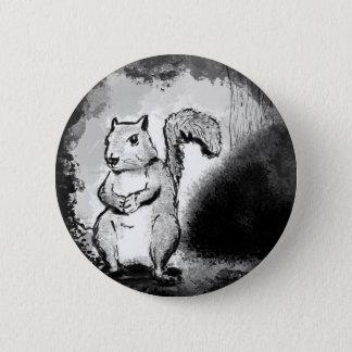 Bóton Redondo 5.08cm Esquilo manchado de tinta