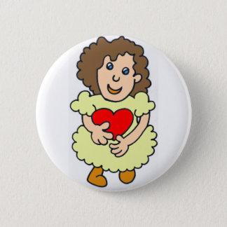 Bóton Redondo 5.08cm Esta menina tem um coração grande