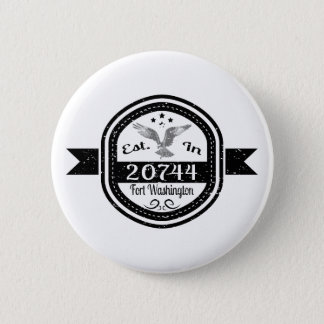 Bóton Redondo 5.08cm Estabelecido 20744 no forte Washington
