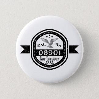 Bóton Redondo 5.08cm Estabelecido em 08901 Novo Brunswick