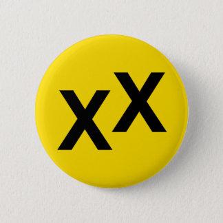 Bóton Redondo 5.08cm Estado de crachá do botão da Dobro-Cruz de