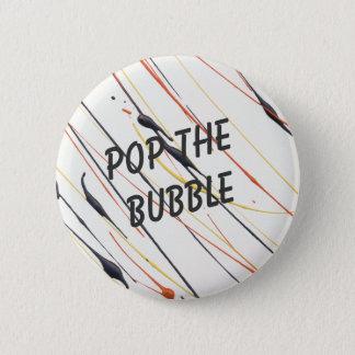 Bóton Redondo 5.08cm Estale o botão da pintura da chama da bolha