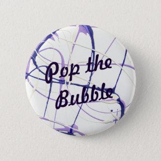Bóton Redondo 5.08cm Estale o botão roxo da pintura da bolha