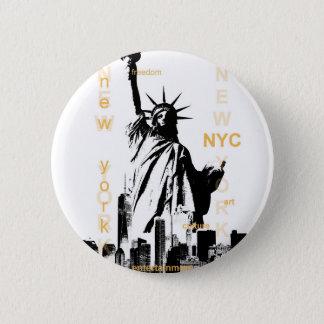 Bóton Redondo 5.08cm Estátua da liberdade de Ny Nyc da Nova Iorque
