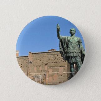 Bóton Redondo 5.08cm Estátua de Trajan em Roma, Italia