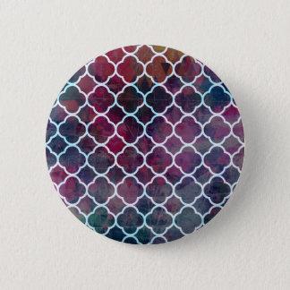 Bóton Redondo 5.08cm Estilo cor-de-rosa do marroquino do Grunge