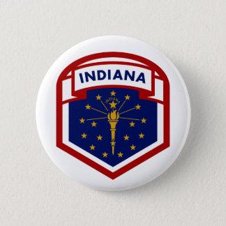 Bóton Redondo 5.08cm Estilo da crista da bandeira do estado de Indiana