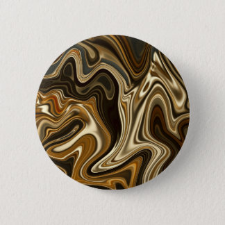 Bóton Redondo 5.08cm Estilo de mármore lindo - marrom morno