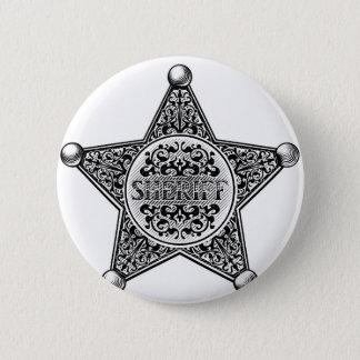 Bóton Redondo 5.08cm Estilo gravado crachá da estrela do xerife