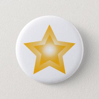 Bóton Redondo 5.08cm Estrela alaranjada
