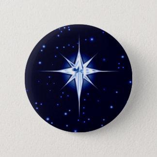 Bóton Redondo 5.08cm Estrela da natividade do Natal