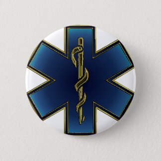 Bóton Redondo 5.08cm Estrela do botão do EMS da vida