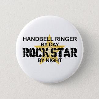 Bóton Redondo 5.08cm Estrela do rock da campainha do Handbell em a