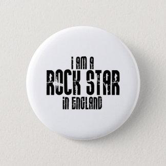 Bóton Redondo 5.08cm Estrela do rock em Inglaterra