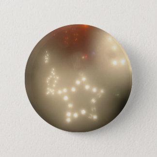 Bóton Redondo 5.08cm Estrelas brancas