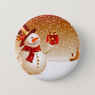 Bóton Redondo 5.08cm Estrelas do boneco de neve e do ouro
