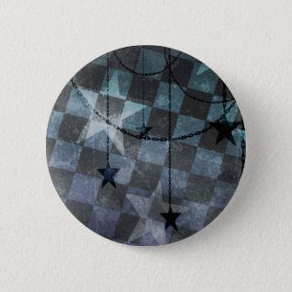 Bóton Redondo 5.08cm Estrelas do tabuleiro de damas do punk