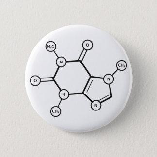 Bóton Redondo 5.08cm estrutura molecular da cafeína