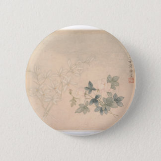 Bóton Redondo 5.08cm Estudo 2 da flor - YUN Bing (chinês)