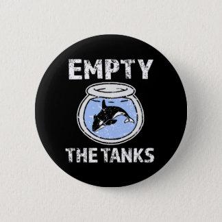 Bóton Redondo 5.08cm Esvazie os tanques - livre o botão das baleias da