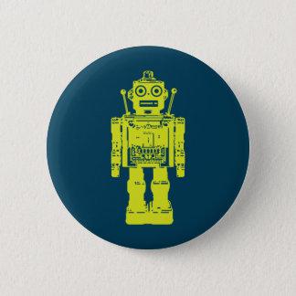Bóton Redondo 5.08cm Etiqueta do robô