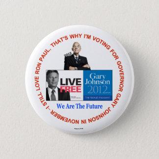 Bóton Redondo 5.08cm Eu ainda amo o botão de Ron Paul Gary Johnson