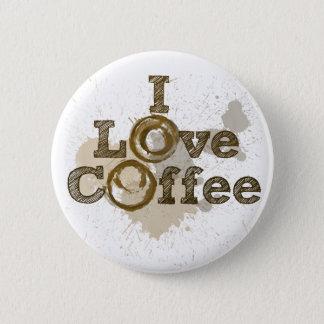 Bóton Redondo 5.08cm Eu amo a cafeína da arte do café