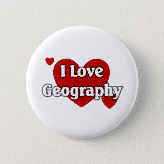 Bóton Redondo 5.08cm Eu amo a geografia