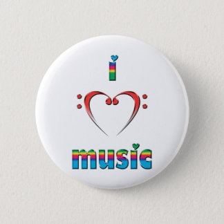 Bóton Redondo 5.08cm Eu amo a música