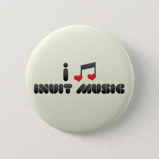 Bóton Redondo 5.08cm Eu amo a música do Inuit
