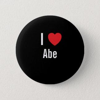 Bóton Redondo 5.08cm Eu amo Abe