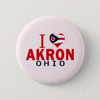 Bóton Redondo 5.08cm Eu amo Akron, Ohio