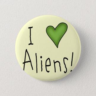 Bóton Redondo 5.08cm Eu amo aliens II