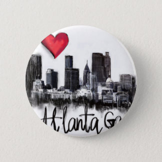 Bóton Redondo 5.08cm Eu amo Atlanta