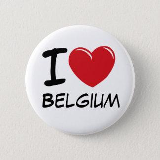 Bóton Redondo 5.08cm Eu amo Bélgica