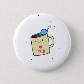 """Bóton Redondo 5.08cm """"Eu amo camisa e roupa do chá"""""""